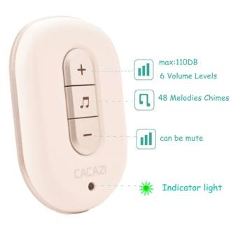 US Plug No Need Battery waterproof wireless doorbell 200M range AC 110-220V Electric Door bell door chime Home & Living 1 Button 2 receiver - intl - 4