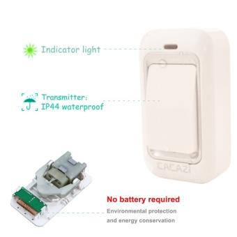 US Plug No Need Battery waterproof wireless doorbell 200M range AC 110-220V Electric Door bell door chime Home & Living 1 Button 2 receiver - intl - 5