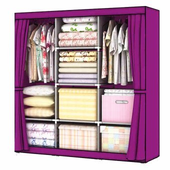 USA TOP ONE lazada and USA best selling Lucky Fashion Cloth Storage Wardrobe Purple