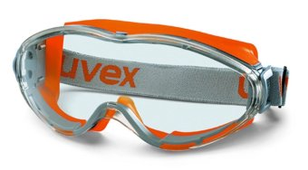 Uvex Ultrasonic ANSI Z87 Concealer Clear Anti-Fog Dual Mold SafetySports Chemical Goggle (Orange Clear) Price Philippines