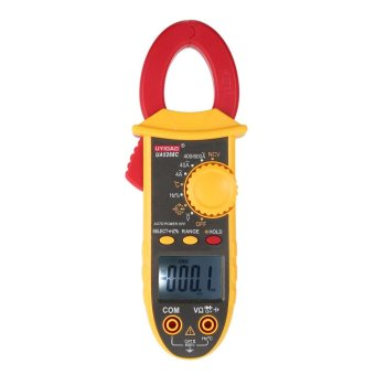 UYIGAO AC/DC Portable Handheld LCD Diaplay Clamp Meter with TestLead Electronic Multimeter Voltage Current