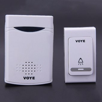 V006B Digital Wireless Door Bell With 38 Polyphony Tunes Songs LED Remote Control Digital Doorbell - White - intl
