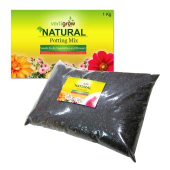 Vertigrow 1KG Natural Planting Mix and Potting Soil NutrientsPerfect for Fruits, Vegetables, Seedlings, Transplant, andContainer Plants
