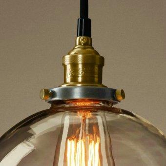 Vintage Chandelier DIY Led Glass pendant Light Pendant Edison LampFixture Edison light bulb chandelier Archaize cafe restaurant bar Bstyle S - 3