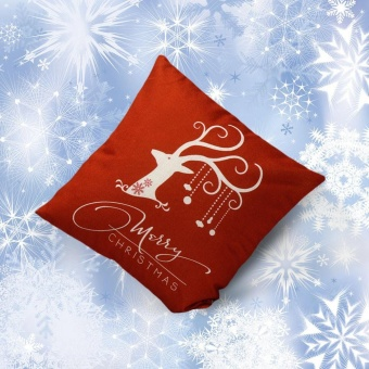 Vintage Christmas Deer Sofa Bed Home Decoration Festival Pillow Case Cushion Cover - intl - picture 2