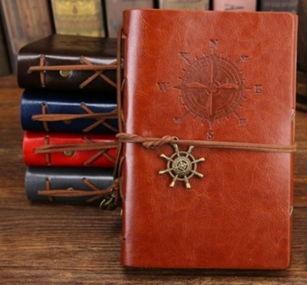 Vintage Leather Travel Journal Notebook Anchor Rudder DecorationNotebook - intl Price Philippines
