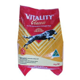 Vitality Classic Lamb and Beef Dog Food 3kg