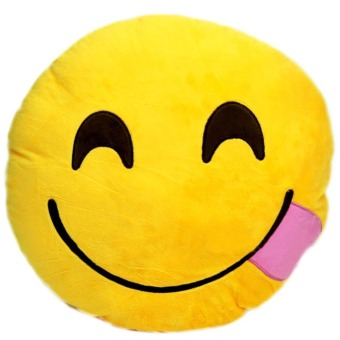 Vococal Emoji Smile Expression Soft Plush Toy Doll Cushion Pillow
