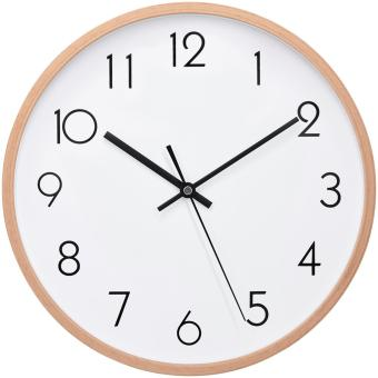 "Wall Clock Wood 12"" Silent Large Wood Wall Clocks Digital Wall Clock Non Ticking For Kitchen Room Vintage Home Decor (Number) - intl Price Philippines"