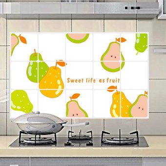 Wall Decals Pears Kitchen Anti Oil Stickers PVC Wall Stickers