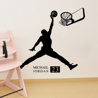 Wall Decals Playing Basketball Boy PVC Wall Stickers - 4