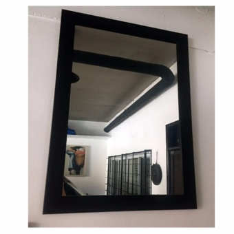 Wall Mirror in black wooden frame