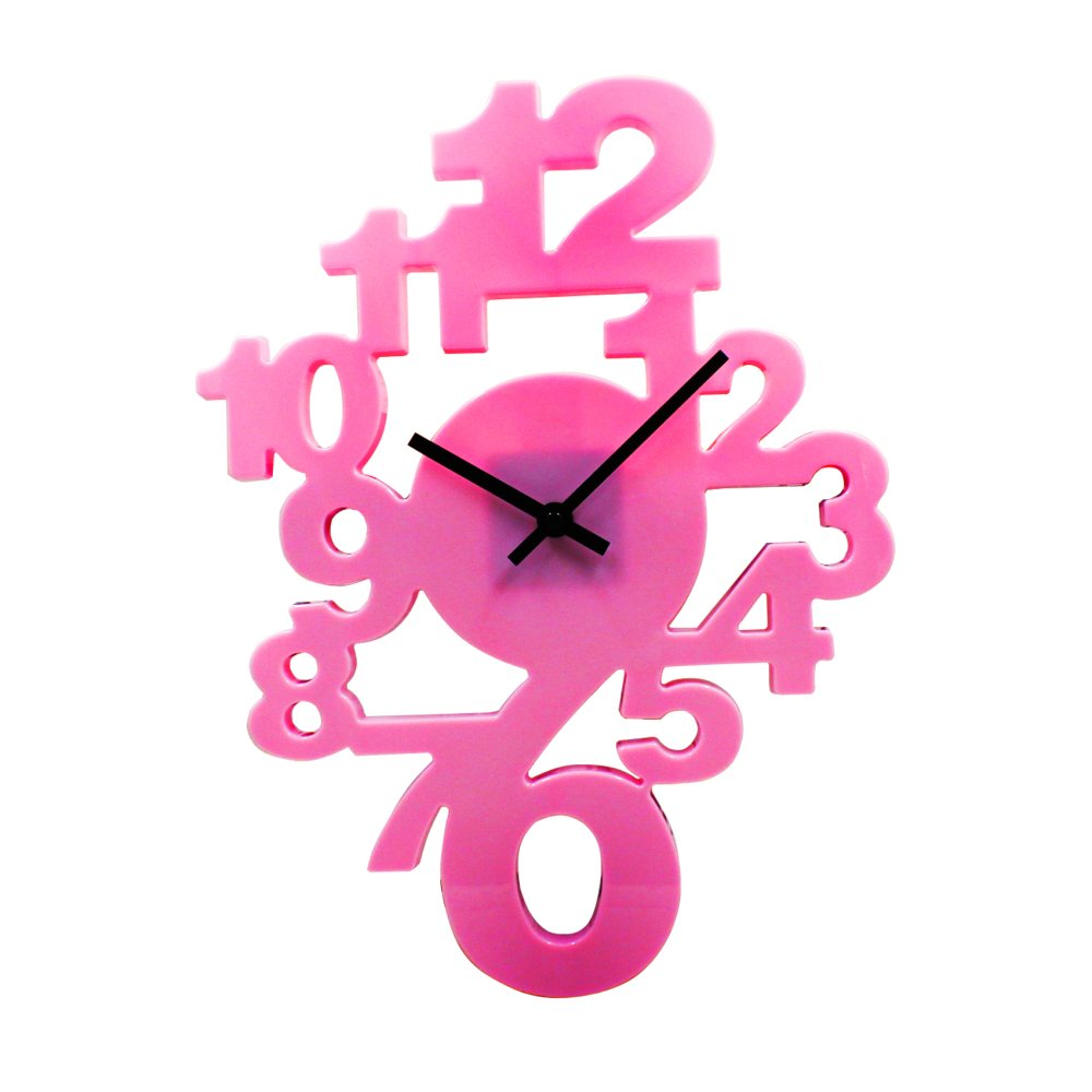 Wallmark 3d design wall clock baby pink lazada ph amipublicfo Image collections