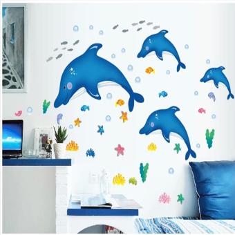 "Wallmark ""Big Blue Dolphin"" Wall Sticker - picture 2"