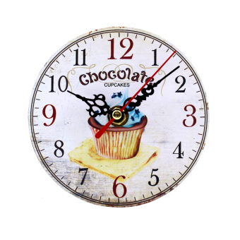 Wallmark Chocolate Cupcake Table Clock