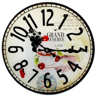 Wallmark Dessert Tempered Glass Creative Wall Clock