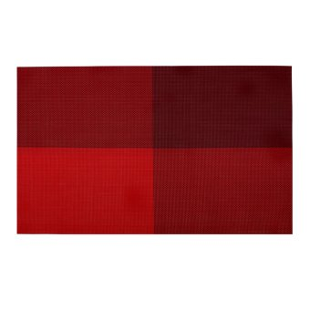 Wallmark Fashion Placemat Set of 4 (Maroon/Red) - 2