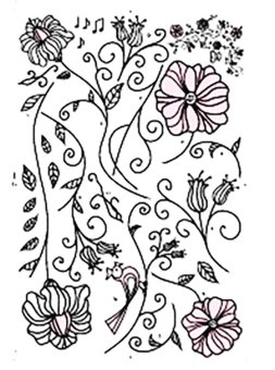 "Wallmark ''Floral Hibiscus"" Wall Sticker - picture 2"