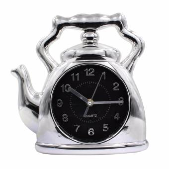 Wallmark Kettle Design Wall Clock (Silver)