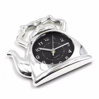Wallmark Kettle Design Wall Clock (Silver) - 2