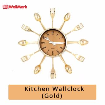 Wallmark Kitchen Wall Clock (Gold)