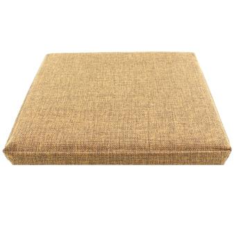 Wallmark Linen Fabric Ottoman Storage Box Chairs (Barleycorn) - 5