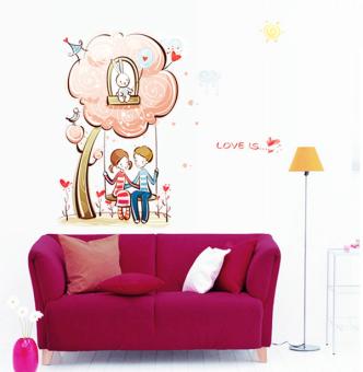 "Wallmark ""Love is ..."" Wall Sticker (Multicolor)"
