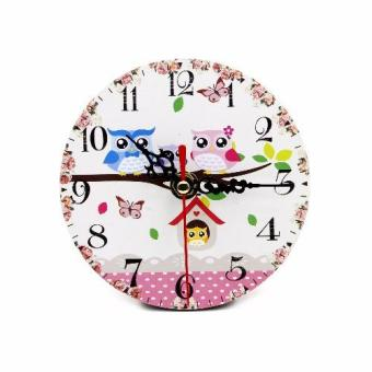 Wallmark Owl Family Home Table Clock
