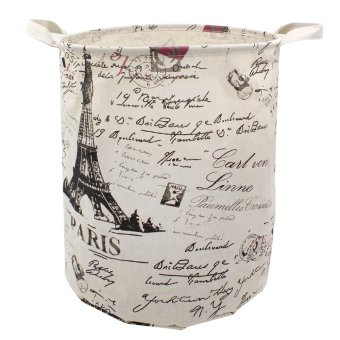 Wallmark Paris Eiffel Tower Foldable Laundry Hamper Storage Basket