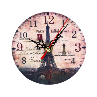 Wallmark Paris Eiffel Tower Table Clock