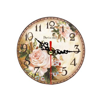 Wallmark Paris Rose Table Clock