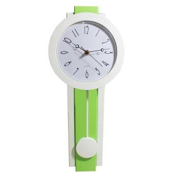 wallmark pendulum wall clock apple greenwhite