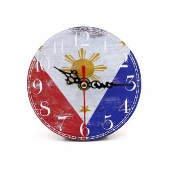 Wallmark Philippine Flag Table Clock