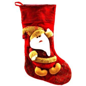 "Wallmark ""Santa Claus with Gold Hat"" Big Christmas Stocking"