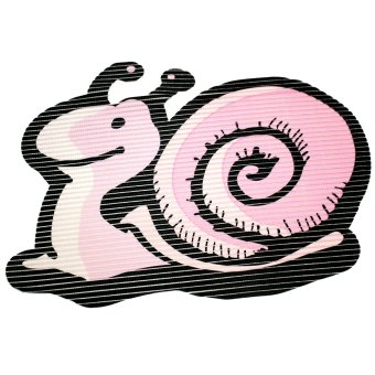 Wallmark Snail Shape Anti-slip safety Bath Mat (Powder Pink)