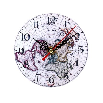 Wallmark World Map Table Clock