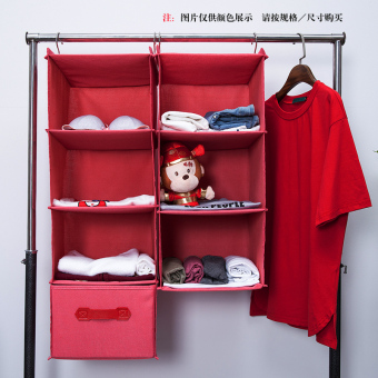 Wardrobe hanging-clothing multi-layer pouch drawer box storage hanging bag