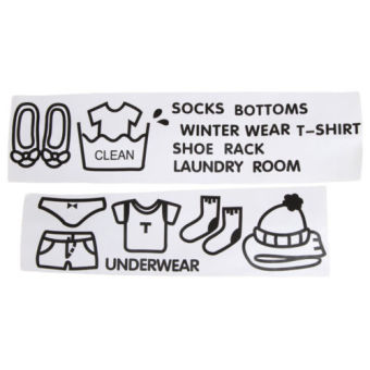 Wardrobe Sort Label Drawer Clothes Storage Category Stickers - intl - 2