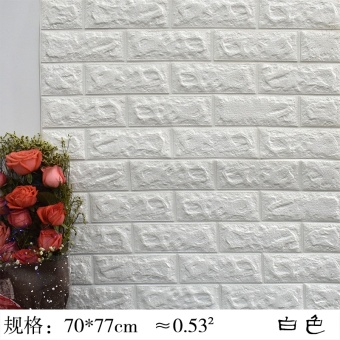 Warm 3D living room TV wall self-adhesive wallpaper wall stickers