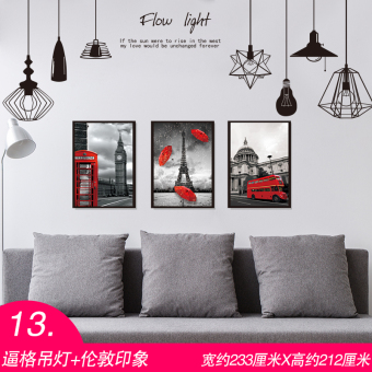 Warm and cool European bedroom room decorative wallpaper wall stickers