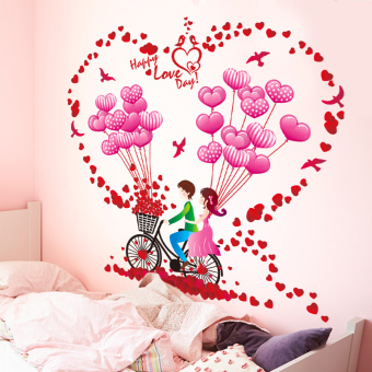Warm and romantic marriage house wall lovely wall adhesive paper