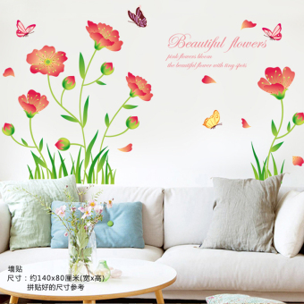 Warm and romantic princess self-adhesive decorative products wall sticker flower stickers