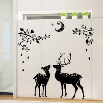 Warm and self-adhesive dormitory bedroom living room adhesive paper wall stickers
