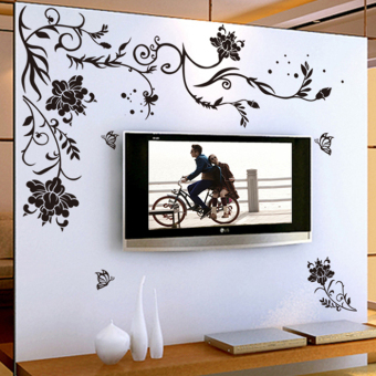 Warm ceiling living room TV backdrop wall stickers