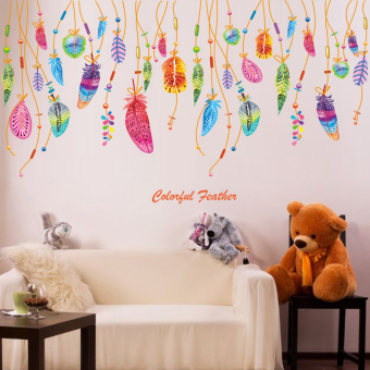 Warm cute Classroom children's room bedroom wall stickers wall adhesive paper