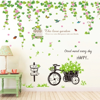 Warm indie dormitory living room bedroom poster paper wall stickers