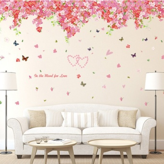 Warm living room bedroom cherry wall stickers