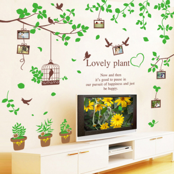 Warm living room bedroom sofa TV backdrop stickers adhesive paper