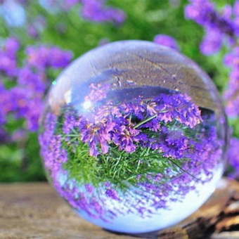 Warm your home 30mm-60mm Round Glass Artificial Crystal Healing Ball Sphere home Decoration HOT - intl