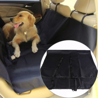 Washable Waterproof Pet Dog Cat Rear Back Seat Cover for CarVehicle Black